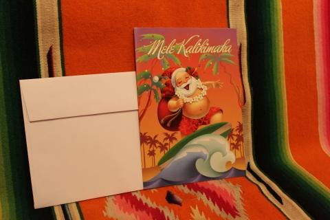 常夏ハワイより届いた「クリスマスカード」_f0191324_08014363.jpg