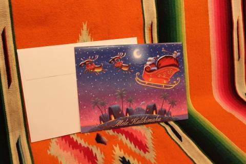 常夏ハワイより届いた「クリスマスカード」_f0191324_08020769.jpg