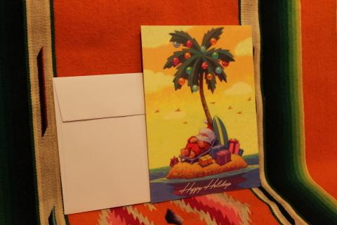 常夏ハワイより届いた「クリスマスカード」_f0191324_08023013.jpg