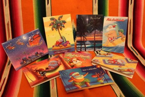 常夏ハワイより届いた「クリスマスカード」_f0191324_08030983.jpg