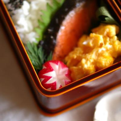 今日の鮭弁当_d0327373_07364824.jpg