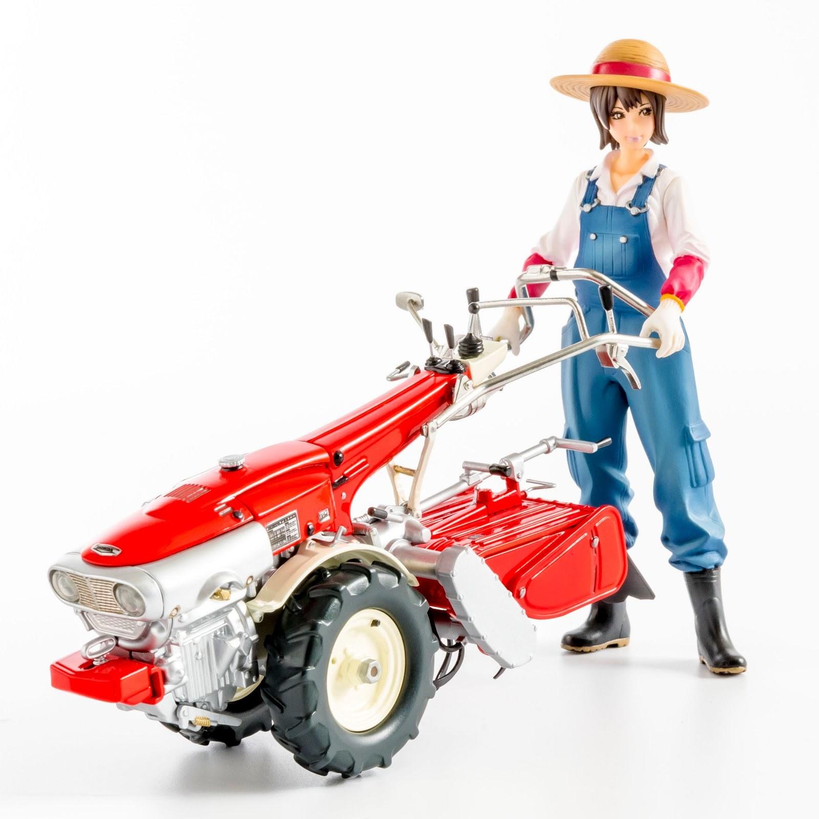 タイムレスなデザインは美しい!耕うん機&農ガールのプラモデルが案内開始です。_f0395912_16033607.jpg