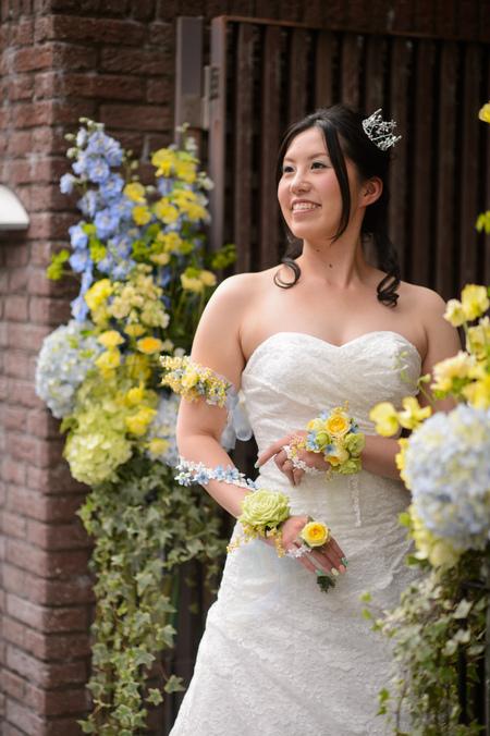 新郎新婦様からのメール 12月、太陽と青空の装花 アンカシェットの花嫁様から_a0042928_20591948.jpg