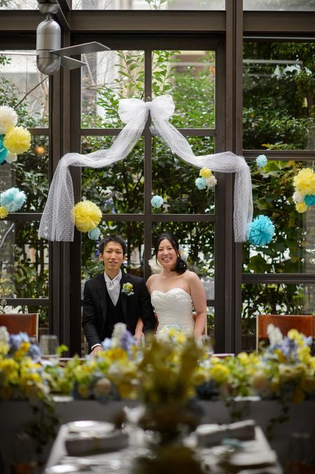 新郎新婦様からのメール 12月、太陽と青空の装花 アンカシェットの花嫁様から_a0042928_21143356.jpg