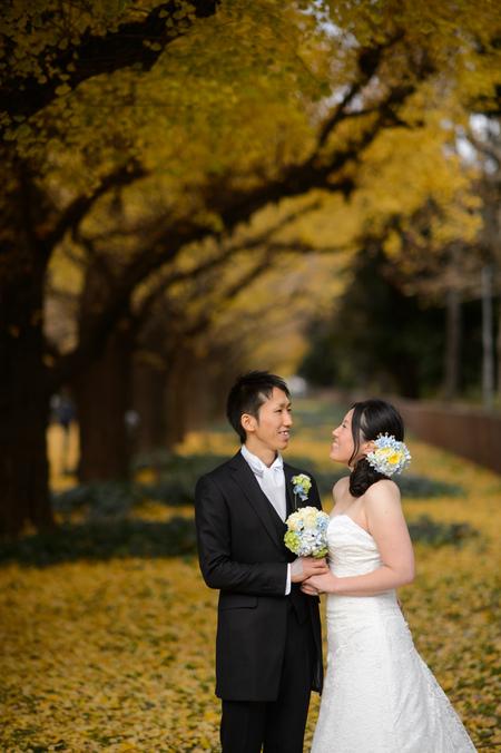 新郎新婦様からのメール 12月、太陽と青空の装花 アンカシェットの花嫁様から_a0042928_21242655.jpg