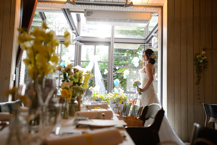 新郎新婦様からのメール 12月、太陽と青空の装花 アンカシェットの花嫁様から_a0042928_2195464.jpg
