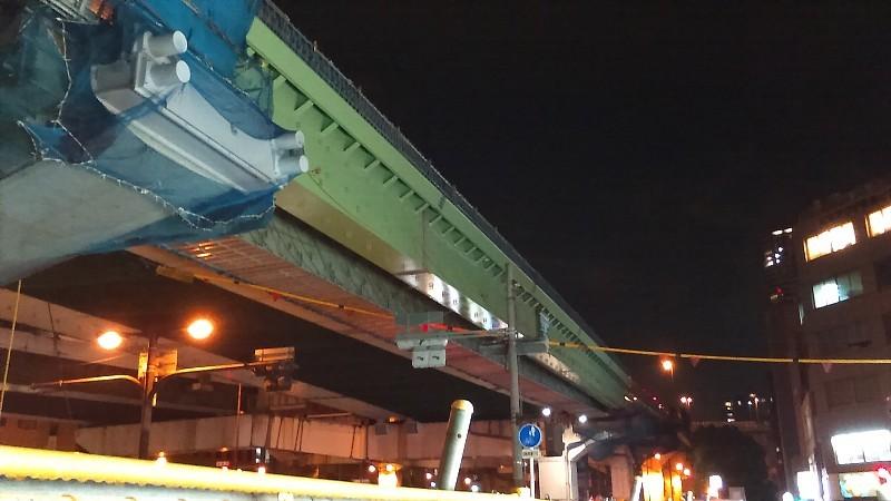 16号大阪港線(東行)阿波座拡幅工事 あみだ池筋の橋梁架設完了_c0340867_02134097.jpg