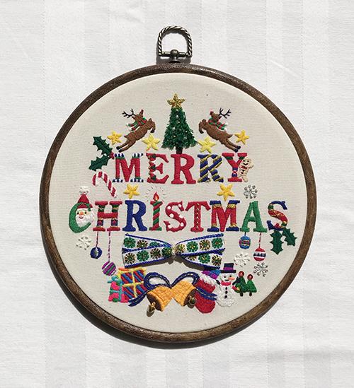 New!クリスマス刺繍飾り連続レッスンの会◇中級者◇_f0327104_23452708.jpg