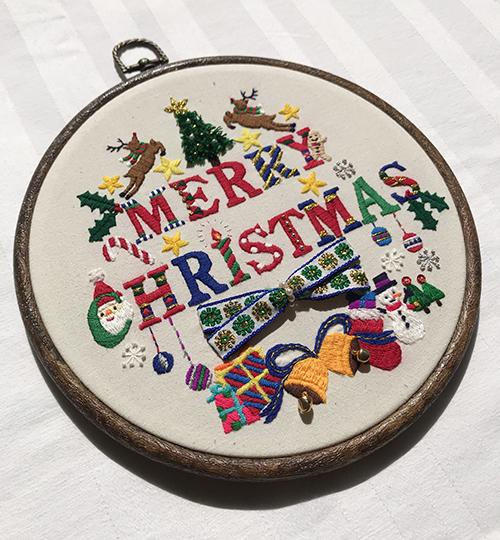 New!クリスマス刺繍飾り連続レッスンの会◇中級者◇_f0327104_23454228.jpg