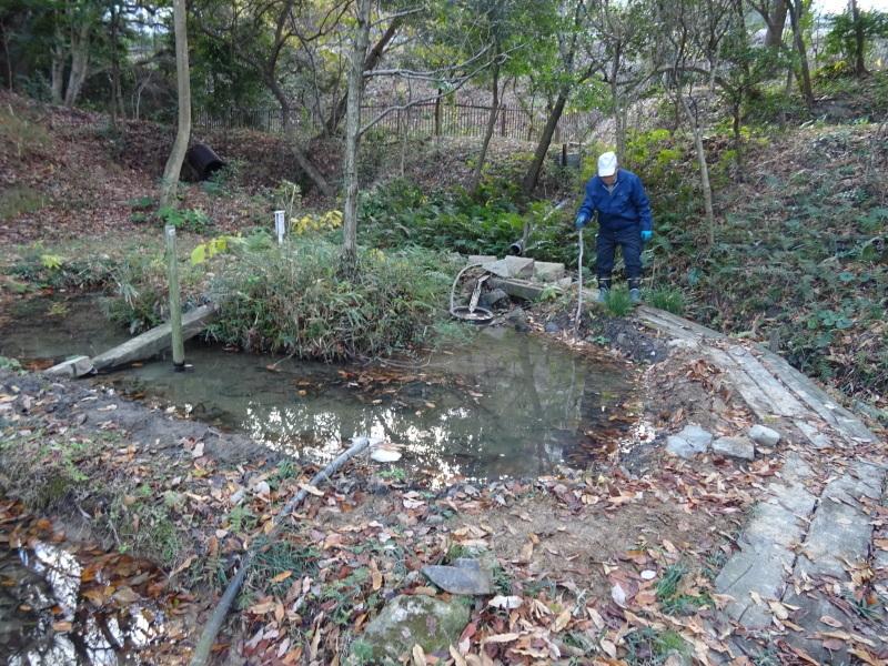 ビオトープ水漏れ個所の大補修・・・うみべの森_c0108460_20082347.jpg
