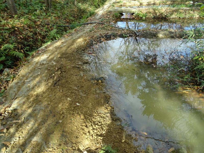 ビオトープ水漏れ個所の大補修・・・うみべの森_c0108460_20103910.jpg