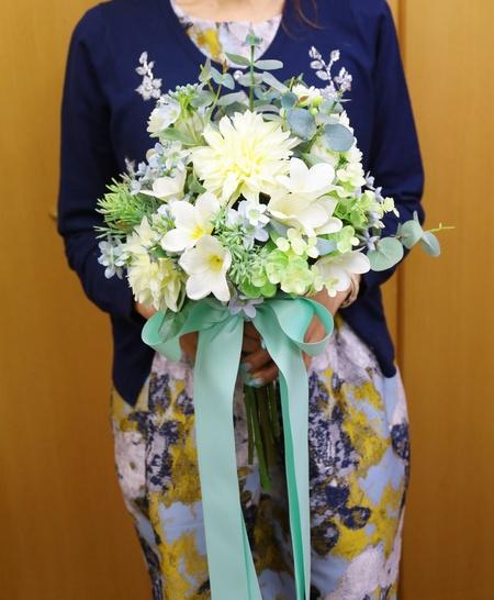 手作りのブーケ、生花とプリザーブドと造花の比較_a0042928_10342757.jpg