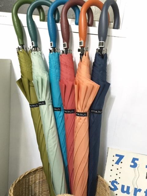 mabuの傘 人気のインディゴカラー&折り畳み傘 再入荷しました♪_d0108933_18035769.jpg