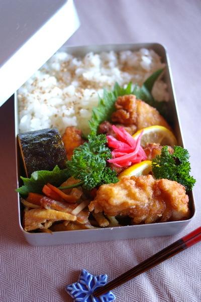 今日の鶏唐揚げ弁当とお手紙_d0327373_07520661.jpg