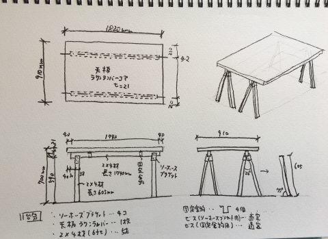 ソーホーズブラケットで机を製作_d0057215_17461634.jpeg
