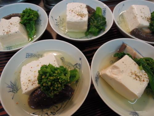 味付け豆腐 しいたけ 菜の花_e0116211_11325055.jpg