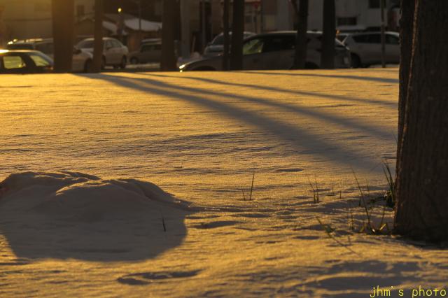 大雪の後の穏やかな夕景_a0158797_22443769.jpg