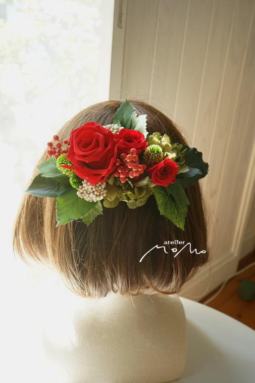 #美女と野獣のイメージで 赤バラのクラッチブーケ!_a0136507_21370774.jpg