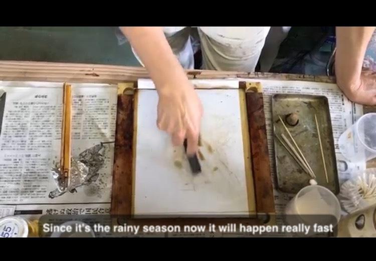 漆蒔過程の映像YouTubeで観られます_d0156360_14255060.jpg