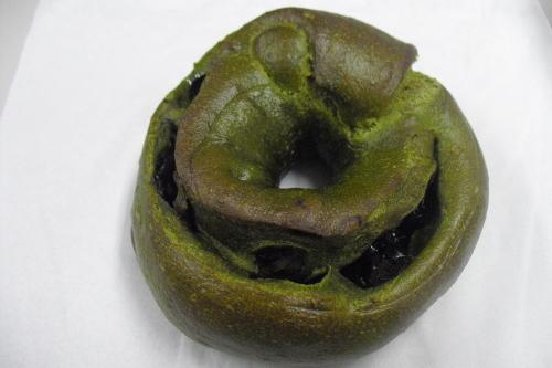 抹茶と黒豆のベーグル(172円)