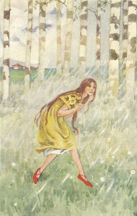 ヘレン・ストラトン画の「赤い靴」_c0084183_14341284.jpg