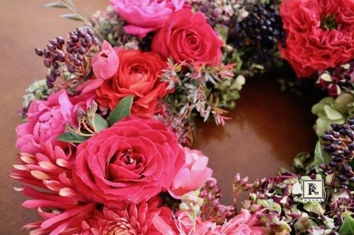 Christmas Flower Wreath⭐︎_c0128489_18370227.jpg