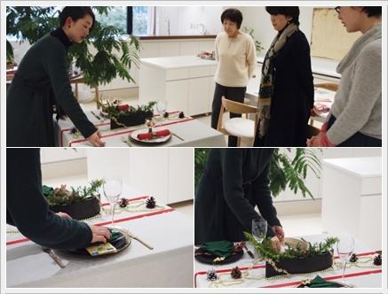 クリスマステーブルをおしゃれに格上げ♪  ~インストラクタークラス_d0217944_23095512.jpg