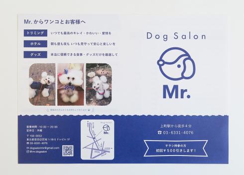 『ドッグサロンMr.』のチラシ製作_d0095746_15553606.jpg