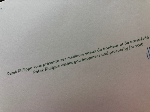 I\'ve received a beautiful christmas card from Patek Philippe today_c0128818_18560365.jpg