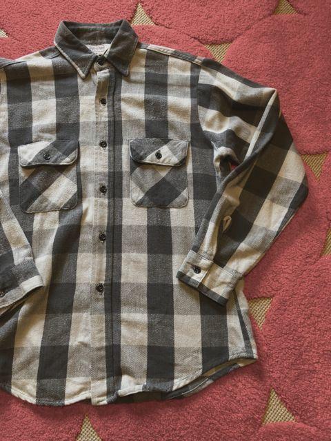 12月23日(土)入荷分!80s~Five Brothers Gray&BLACK ブロックチェック ネルシャツ!_c0144020_18300017.jpg