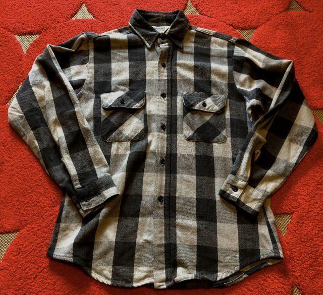 12月23日(土)入荷分!80s~Five Brothers Gray&BLACK ブロックチェック ネルシャツ!_c0144020_18300350.jpg