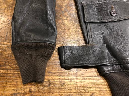 G-1 袖丈詰め 革ジャン 洋服修理_b0178425_11250869.jpg