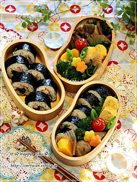 海苔巻き弁当とゆずとクリスマスケーキ♪_f0348032_18223243.jpg