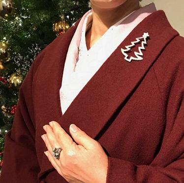 クリスマス会・野村エミさん・まいづるのもみの木のような帯_f0181251_17314654.jpg