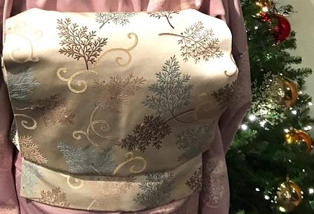 クリスマス会・野村エミさん・まいづるのもみの木のような帯_f0181251_1736166.jpg