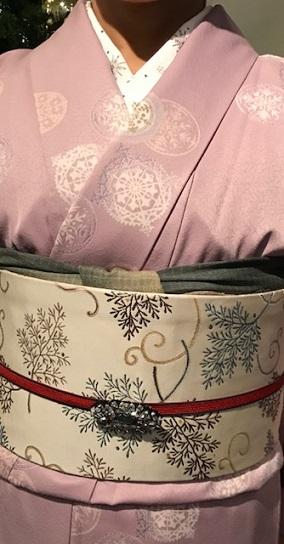 クリスマス会・野村エミさん・まいづるのもみの木のような帯_f0181251_17382298.jpg