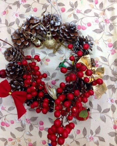 クリスマス会の始まり  クリスマスリースつくり_e0167771_15284493.jpg