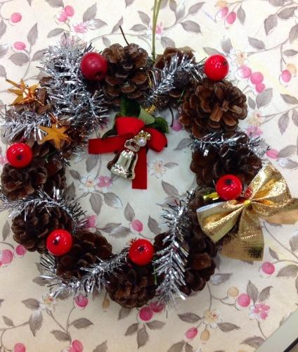 クリスマス会の始まり  クリスマスリースつくり_e0167771_15300025.jpg