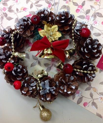 クリスマス会の始まり  クリスマスリースつくり_e0167771_15304725.jpg