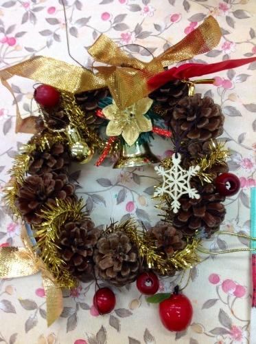 クリスマス会の始まり  クリスマスリースつくり_e0167771_15311744.jpg
