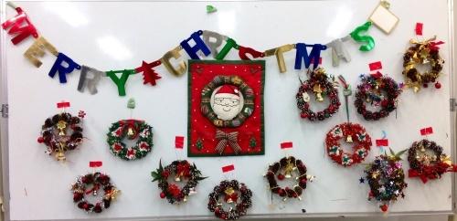 クリスマス会の始まり  クリスマスリースつくり_e0167771_15350482.jpg
