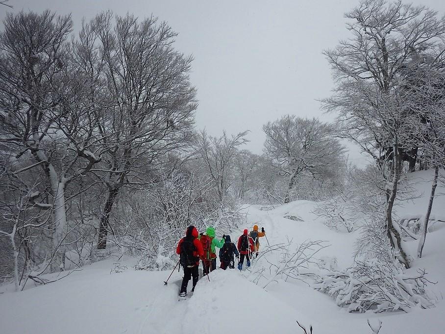 飯豊・西俣ノ峰でのラッセル訓練 ~ 2017年12月17日_f0170180_01345214.jpg