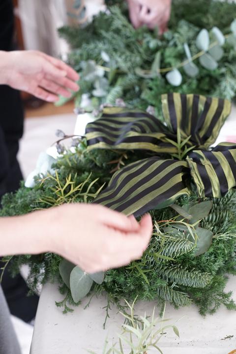クリスマス リースレッスン_f0127281_11102437.jpg