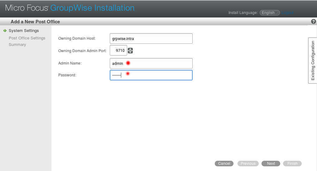 GroupWise 2014 R2 SP1 の SLES12 へのインストール(一部不具合あり)_a0056607_10333616.jpg