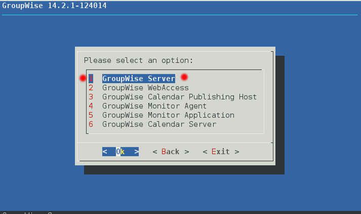 GroupWise 2014 R2 SP1 の SLES12 へのインストール(一部不具合あり)_a0056607_11474470.jpg