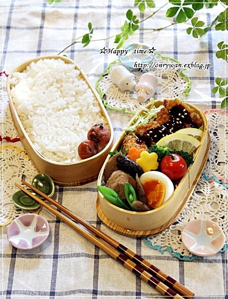 味噌カツ弁当とおうちでバゲット♪_f0348032_16405504.jpg
