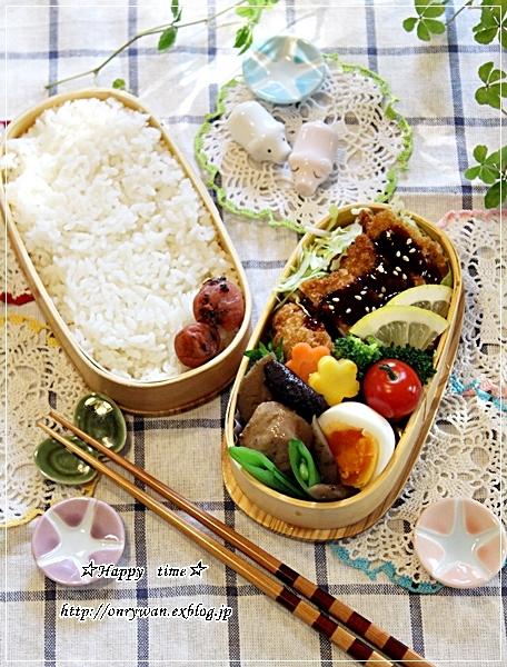 味噌カツ弁当とおうちでバゲット♪_f0348032_16410644.jpg