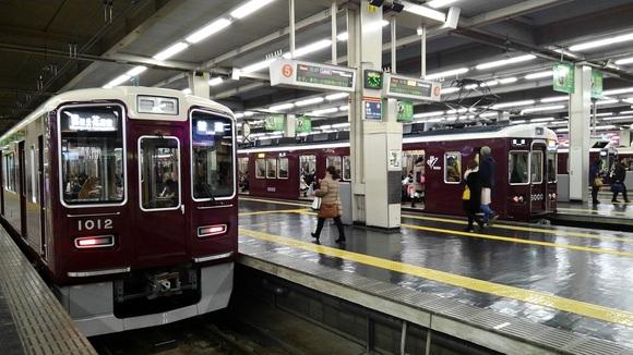 後輩と先輩 阪急梅田駅にて!_d0202264_854557.jpg