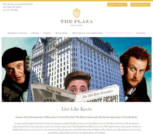 NYのプラザ・ホテルが『ホーム・アローン2』25周年記念宿泊パッケージ発売中_b0007805_0364121.jpg