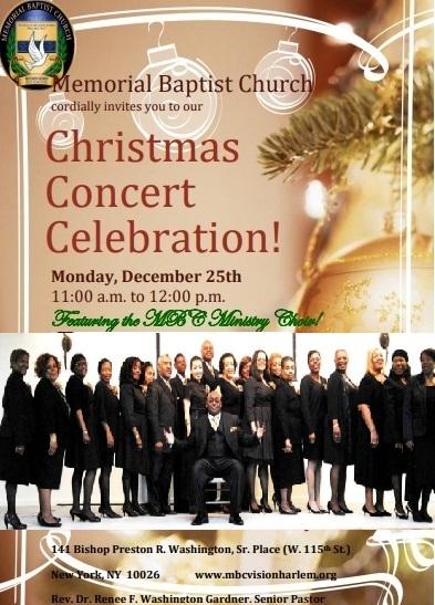 クリスマス当日はハーレムの教会でゴスペルコンサート!ゴスペルアーティスト松尾公子_f0009746_03460941.jpg